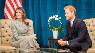Melania Trump and Prince Harry chatted together.
