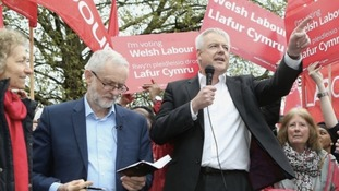 Carwyn Jones and Jeremy Corbyn campaigning in 2017 General Election