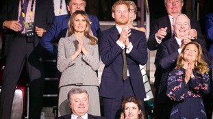 Melania Trump and Prince Harry at the Opening Ceremony of the 2017 Invictus Games at