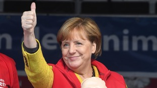 German elections: Angela Merkel expected to win fourth term as chancellor