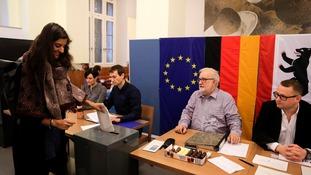 Polls opened across Germany on Sunday.