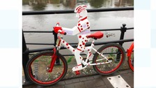 The decorated bikes went on display on Saturday in preparation for the Velo on Sunday.