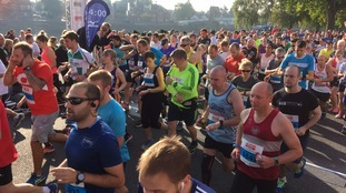 Thousands turn out for Robin Hood Marathon in Nottingham