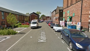 Image shows Kershaw Street, Bury, where police were called