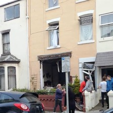 Watch: Aftermath of Blackpool 'gas explosion'