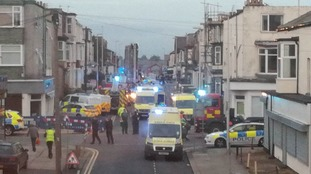 The street was cordoned off by emergency services