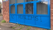 Racist graffiti daubed on east Belfast community centre