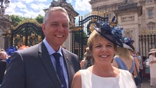 Chairman Chris Curtis and wife Sharon attending Royal Garden Party