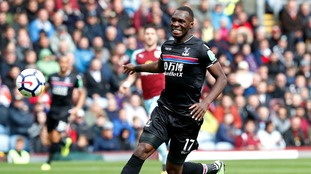 Crystal Palace face nervous wait on Christian Benteke after striker is suspected to have suffered ligament damage