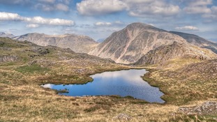 The group of men were rescued from Scafell Pike.
