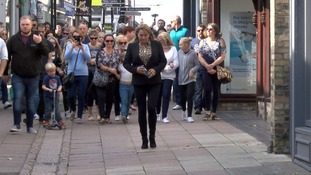 Nicola Urquhart leads supports retracing Corrie's steps