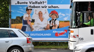 An Alternative for Germany election poster.