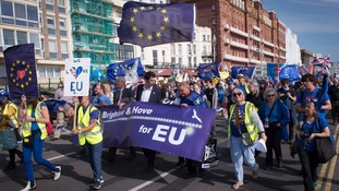 Anti-Brexiteers at Brighton