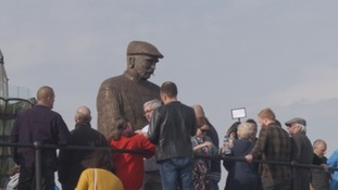 Statue unveiled in honour of North Shields fishermen lost at sea