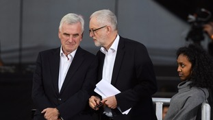 John McDonnell with Jeremy Corbyn at the Labour conference.