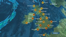 Weather: Largely dry with bright spells later