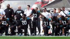 Trump: NFL national anthem row 'nothing to do with race'