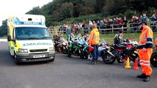 'I'm very upset and shaken' - motorbike racer after 12 spectators injured