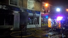 Charity shop ablaze in suspected arson attack