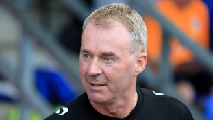 John Sheridan has left his position as Oldham manager