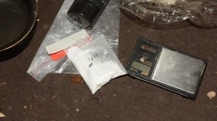 Bagged substance found in house in Huddersfield.