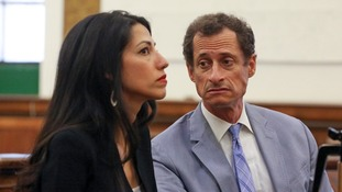 Weiner and Huma Abedin (l) are undergoing a divorce.