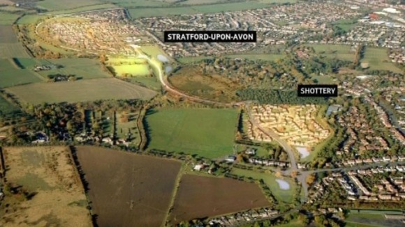 The housing development is planned for Shottery, near Stratford-upon-Avon