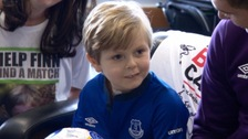 Everton FC: Meet the young football fan whose club helped to save his life
