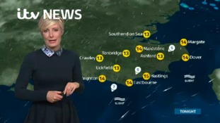 Monday night's weather for the east of the region