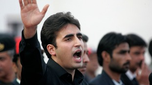 Bilawal Bhutto Zardari during his speech