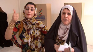 There was a party atmosphere as Kurdish voters hailed a historic day.