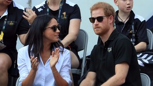Prince Harry and Meghan Markle appear together at Invictus Games