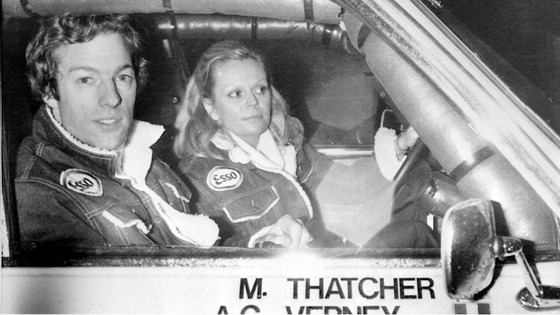 Mark Thatcher with his French co-driver Anne-Charlotte Verney during the 1982 Paris to Dakar rally.