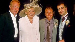 Bruce Jones, Liz Dawn, Steven Arnold and Simon Gregson pictured in 2001.