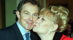 At a Downing Street reception with Tony Blair in 1997.