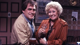 Enjoying a tipple in the Rovers with on-screen husband Jack