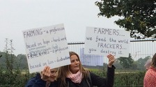 Farmers in Ryedale have pledged their support to campaigners fighting plans for fracking in the area.
