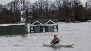 Worcester racecourse flooded