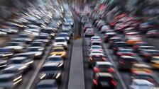 Ten-vehicle crash causes delays on M62
