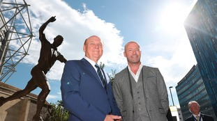 File photo dated 12-03-2001 of Newcastle United's club Chairman Freddy Shepherd (right).