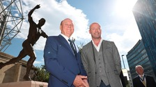 Freddy Shepherd (left), Alan Shearer (right)