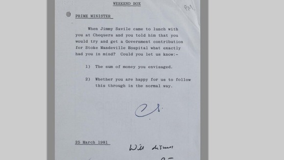 The Prime Minister is asked about her lunch meeting with Savile in 1981.