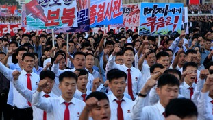 North Koreans believe America is intent on destroying the country.