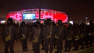 Russia practising tight security ahead of 2018 World Cup