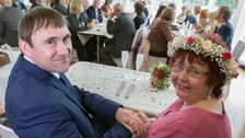 Lee and Gill Carter tied the knot in Asda