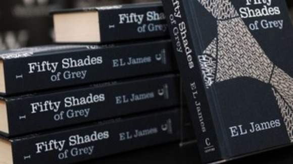 EL James&#x27; steamy novel &quot;Fifty Shades of Grey&quot;