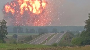 Explosion at Ukraine ammunition depot being treated as 'sabotage'