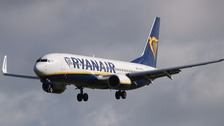 A Ryanair plane.