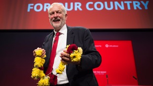 Jeremy Corbyn enjoyed the festival atmosphere at the conference.