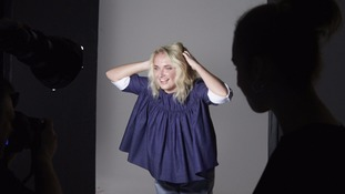 Rankin is photographing a number of women who volunteered.
